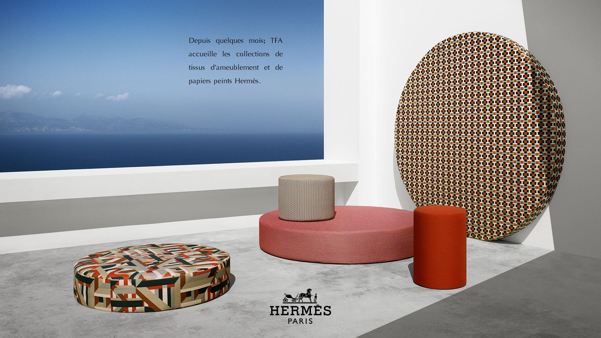 Hermes Chez Tfa 2 Tissus D Ameublement Paris