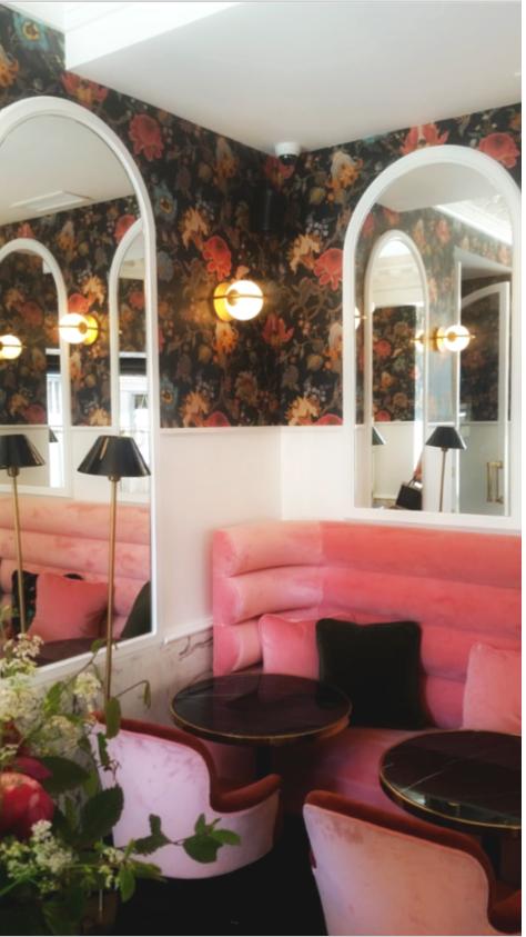 banquette salon rose Otello