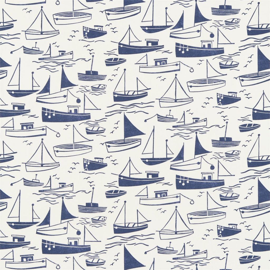 HARLEQUIN SAIL AWAY NAVY AND NEUTRAL 120232 HKID120232