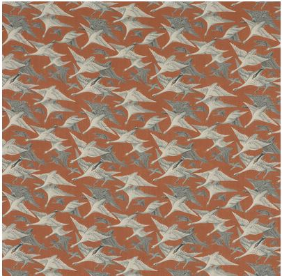 MULBERRY HOME WILD GEESE LINEN SPICE FD287 T30