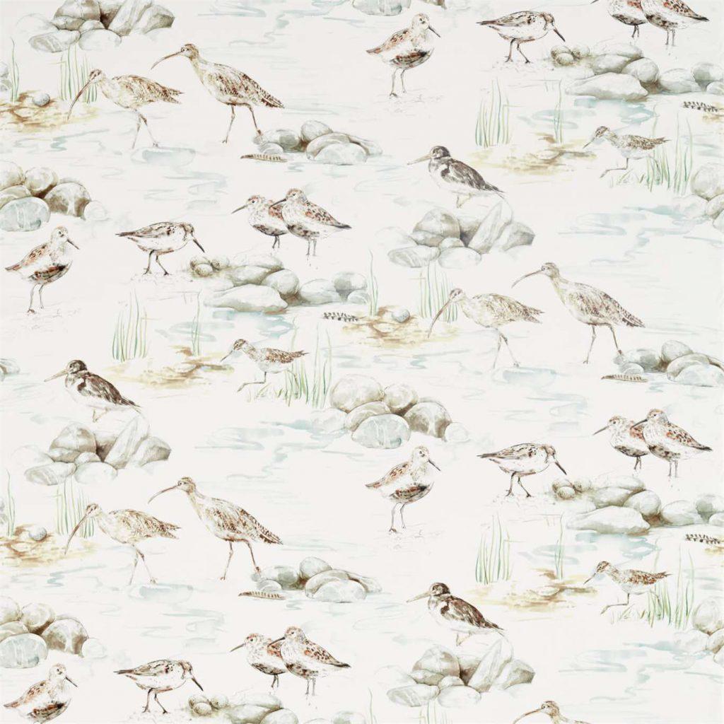 SANDERSON ESTUARY BIRDS AMBLETON BAY MIST IVORY 226426 DEBB226426