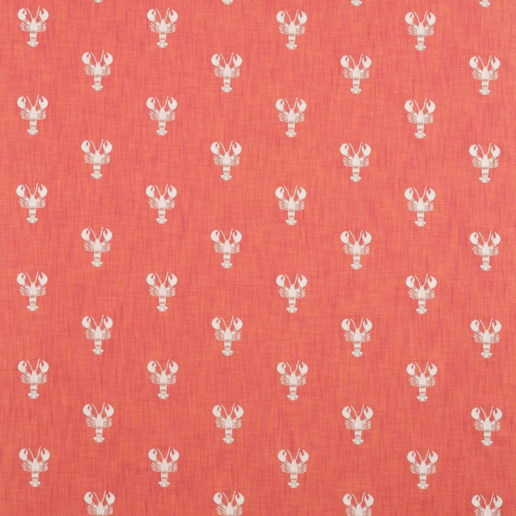 SANDERSON PORT ISAAC CROMER EMBROIDERY 236677 CORAL DCOA236677