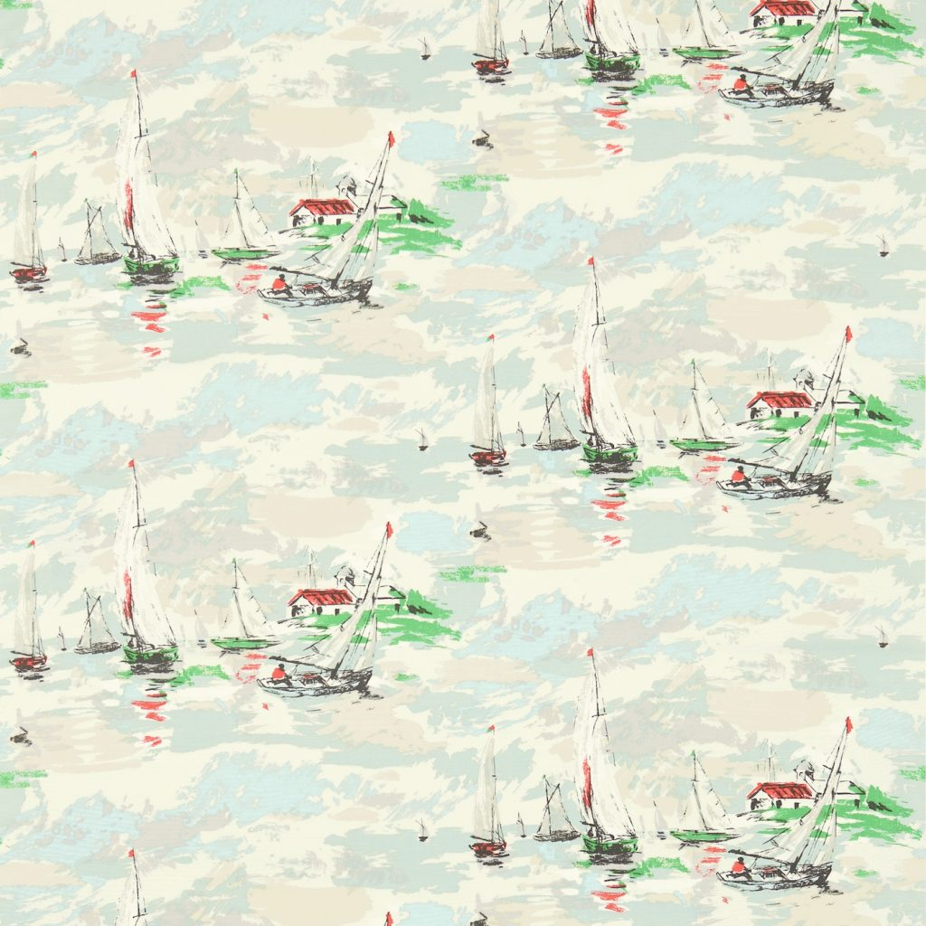 SANDERSON SAIL AWAY VINTAGE PRINT SEA GREEN 224341 DVIN224341