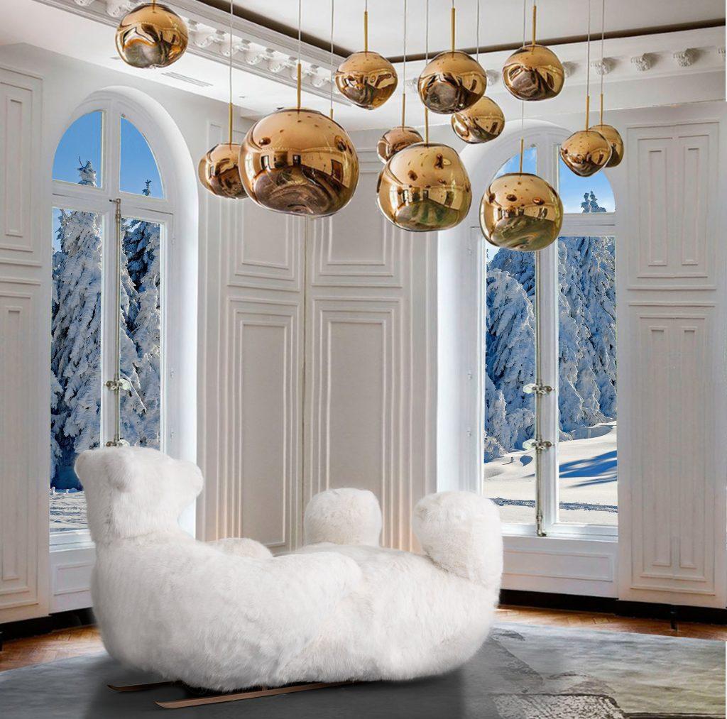L'ours Icebearg, mobilier de montagne