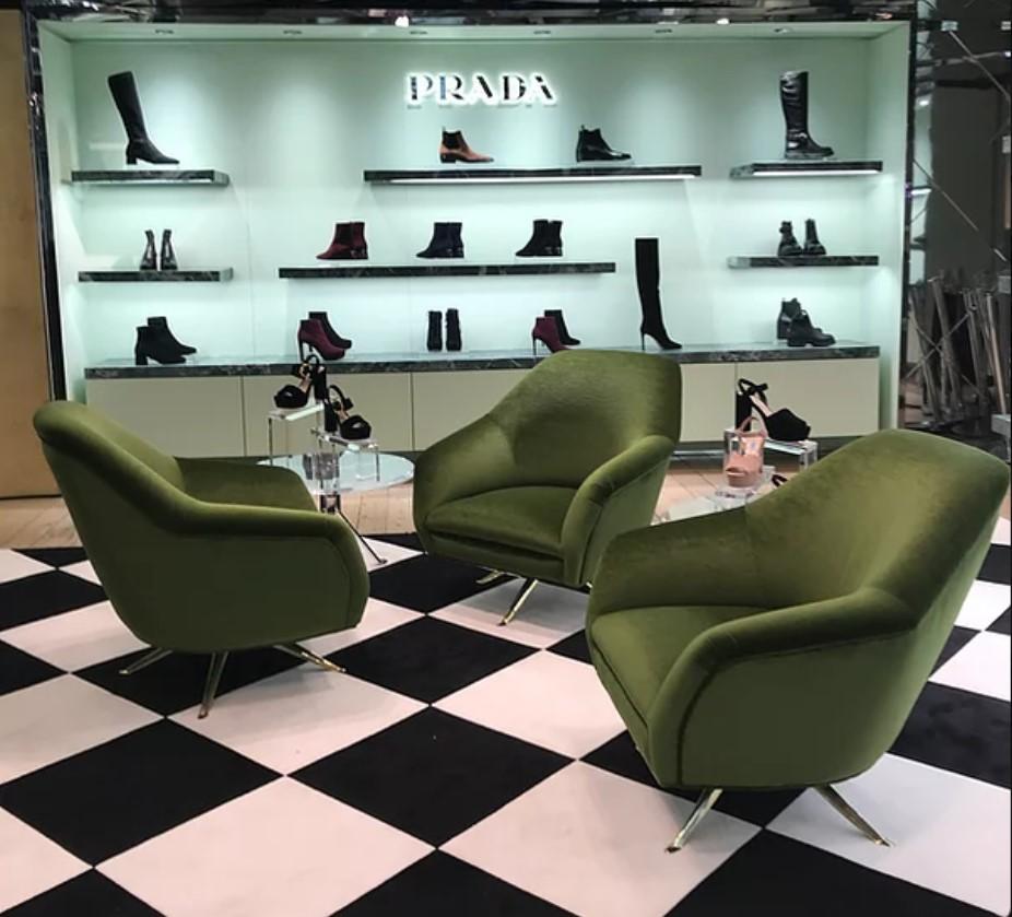 Galeries Lafayette fauteuils velours Private Elitis
