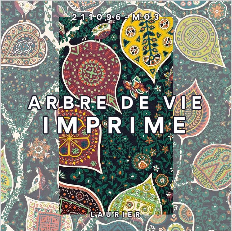 HERMES TISSU ARBRE DE VIE IMPRIME LAURIER