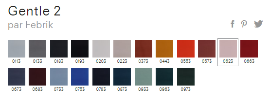 GENTLE palette de couleurs